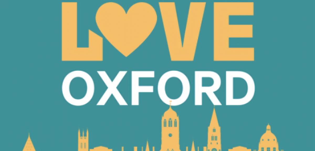 Love Oxford Hub banner with Oxford skyline. Credits: Oxford SU
