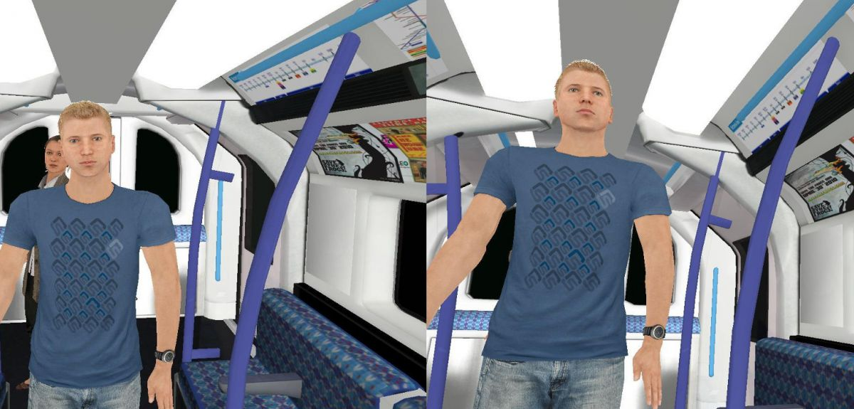The height of passengers on a virtual tube ride was altered