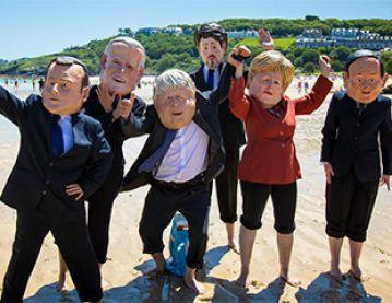 G7 leaders masks