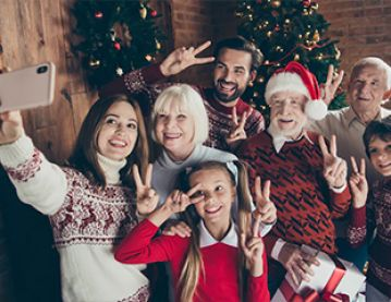 Family group selfie