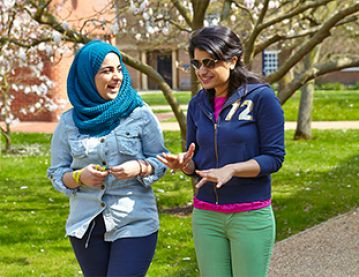 Two women students