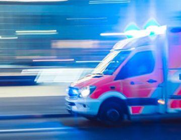 Ambulance blurred image
