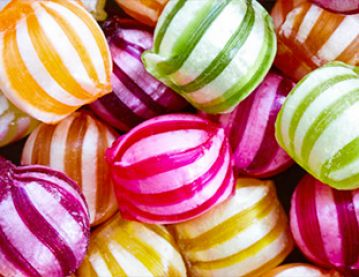 Colourful boiled sweets
