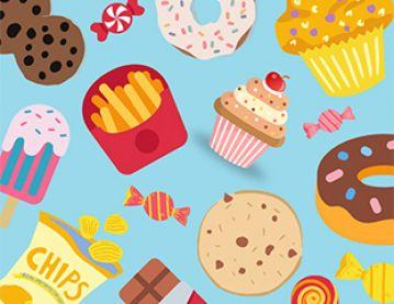 Illustration of snacks