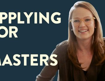 Applying for a master's degree