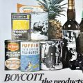Anti-Apartheid Movement poster asking shoppers to boycott South African goods. The poster was first produced in 1978 and incorporates images of the shootings of school students in Soweto in 1976.
