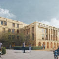 External visual of the Humanities building