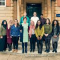 Vice-chancellor with LMH foundation year students