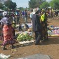 Kagoma weekly market in Kyangwali refugee settlement, Uganda.