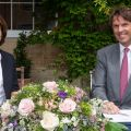 Professor Louise Richardson, Vice-Chancellor of the University of Oxford and Hubert Keller, Co-Senior Partner of the banking group Lombard Odier have officially signed a multi-year partnership to foster sustainable finance and investment research, with a