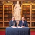 Professor Patrick Grant, University of Oxford, and Roger File, COO Blenheim Palace
