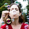 Eleanor stride with bubbles