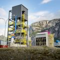 The Carbon Engineering Direct Air Capture carbon capture plant, Squamish, Canada.  According to Professor Allen, Investment is urgently needed into safer, permanent CO2 disposal. Credit: Shutterstock.