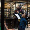 Boy in Pitt Rivers Museum