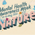 Metal Health Awareness Week banner, nature themed. Credits: Mentalhealth.org.uk