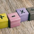 Blocks with maths symbols on them