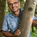 Image of Professor Yadvinder Malhi in the woods for his Find an Expert profile